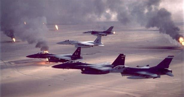 من غارات التحالف ضد داعش