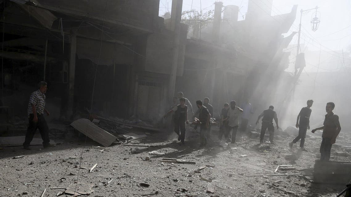 Regime air strikes on Sunday also killed four civilians in Kfarbatna, a town in the rebel bastion of Eastern Ghouta near Damascus