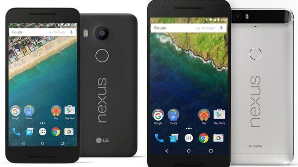 Google's Nexus 5X and Nexus 6P smartphones. (Photo courtesy: Google)