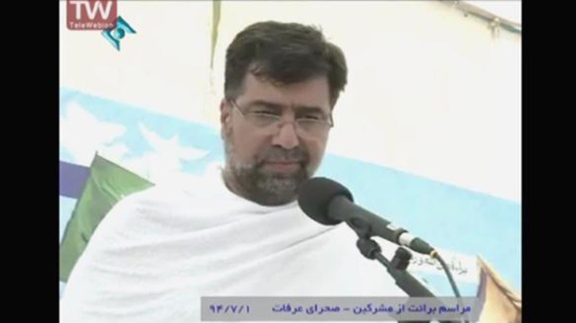 السفير الإيراني السابق في لبنان غضنفر ركن آبادي يلقي كلمة أثناء الحج