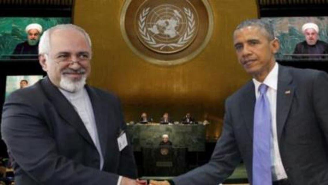 مصافحة بين أوباما وظريف