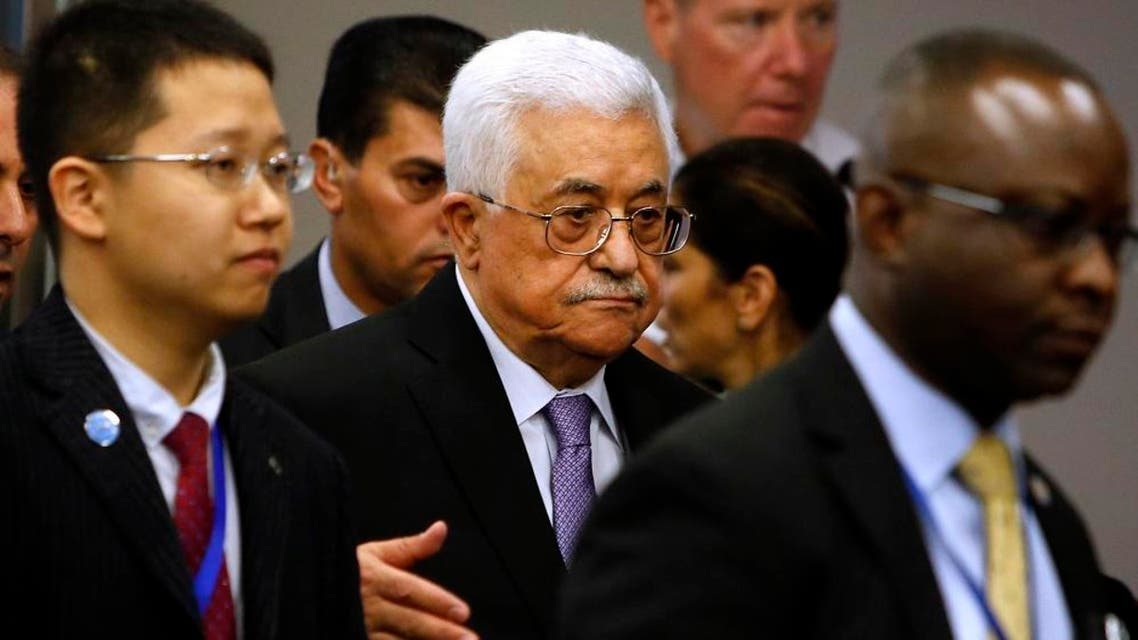 Palestinian President Mahmoud Abbas, center, arrives for the 70th session of the United Nations General Assembly at U.N. headquarters. (File: AP)