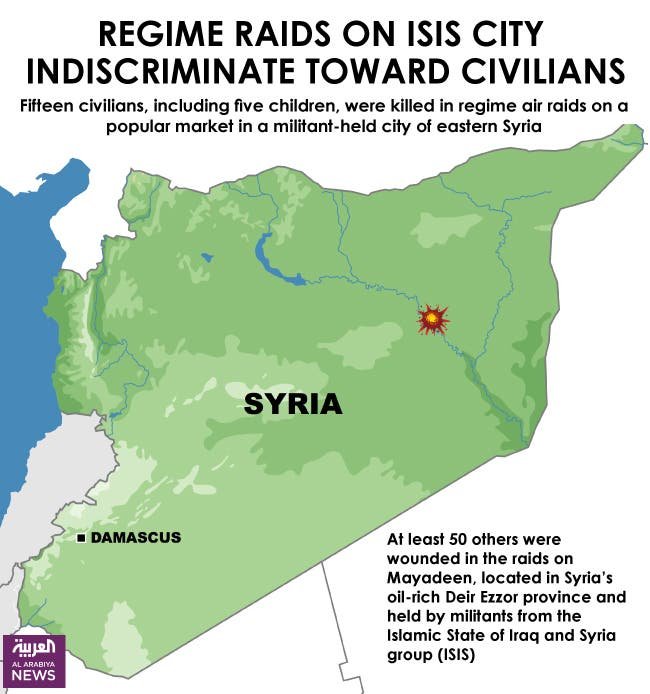 Infographic: Regime raids on ISIS city indiscriminate toward civilians