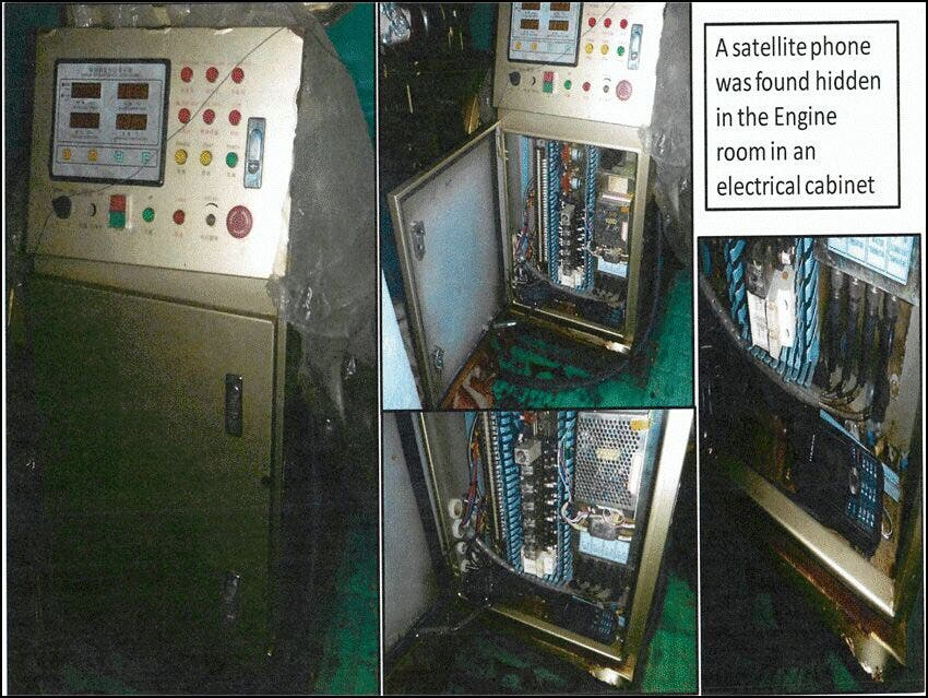 A satellite phone was also found. (Al Arabiya)