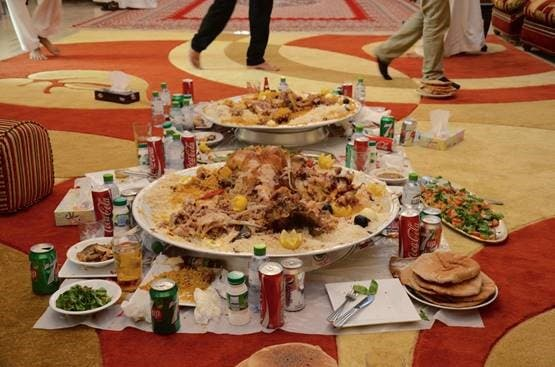 The aftermath of a Najdi feast Photo credit: Miles Lawrence