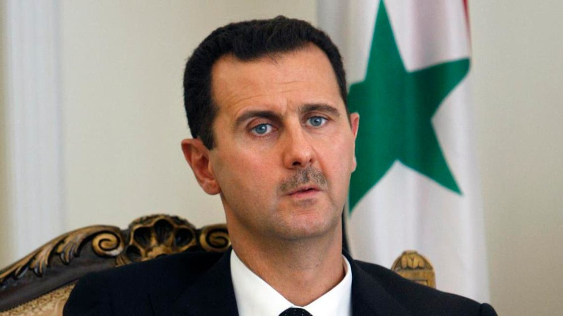 This file photo shows Syrian President Bashar Assad during a meeting in Tehran, Iran. (AP)