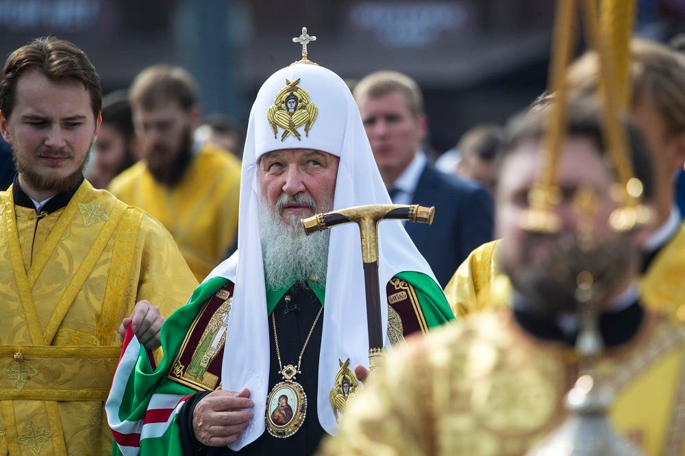 Russian Orthodox Church Patriarch Kirill leads a religious procession marking the 700th anniversary of declaring Moscow the capital of Orthodox Russia. (File: AP)