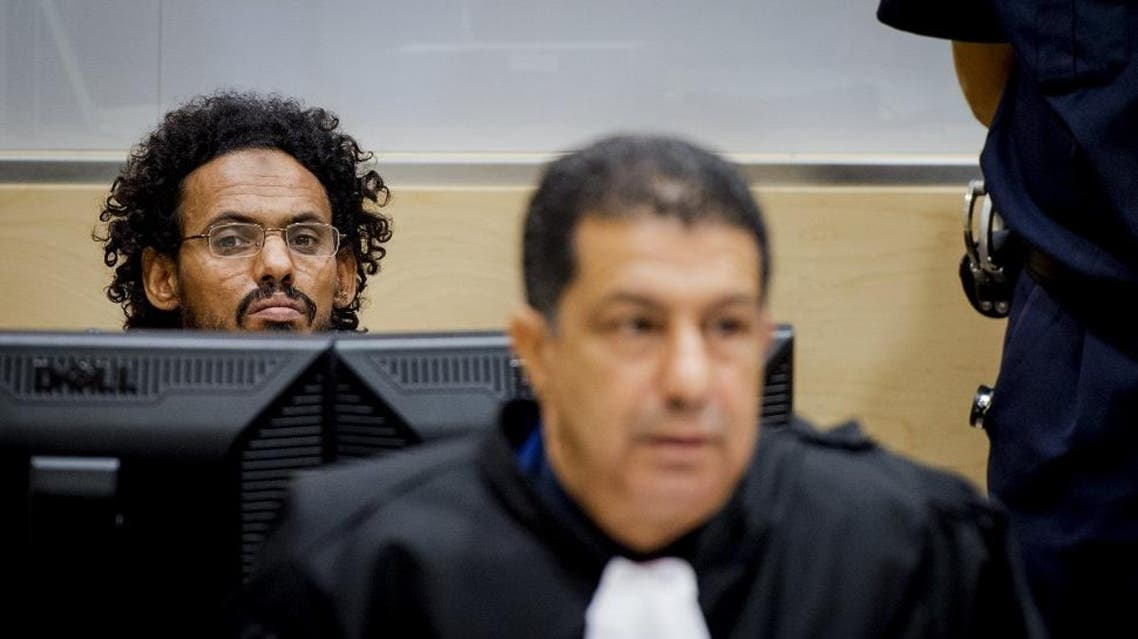 Ahmad Al Faqi Al Mahdi ( a.k.a. Abu Tourab) sits in the courtroom of the International Criminal Court (ICC) in the Hague, the Netherlands, September 30,2015. (Reuters)