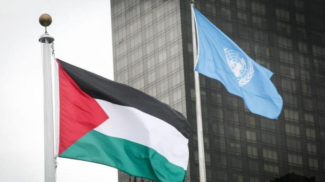 رفع علم فلسطين على مبنى الامم المتحدة