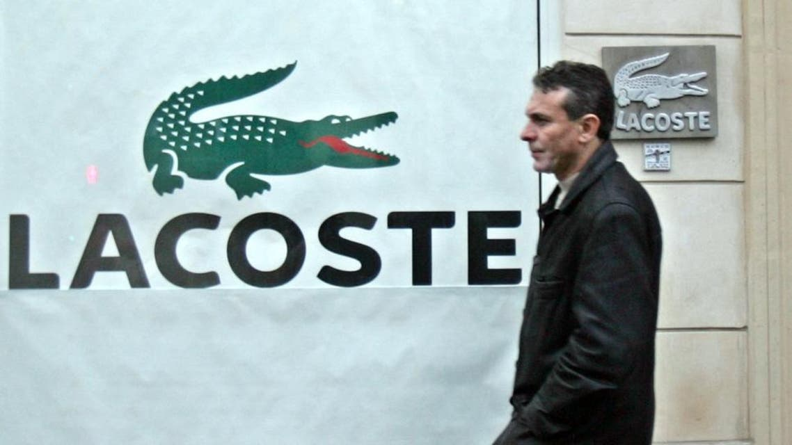 The iconic Lacoste brand was founded in 1933 by tennis champion Rene Lacoste. (AP)