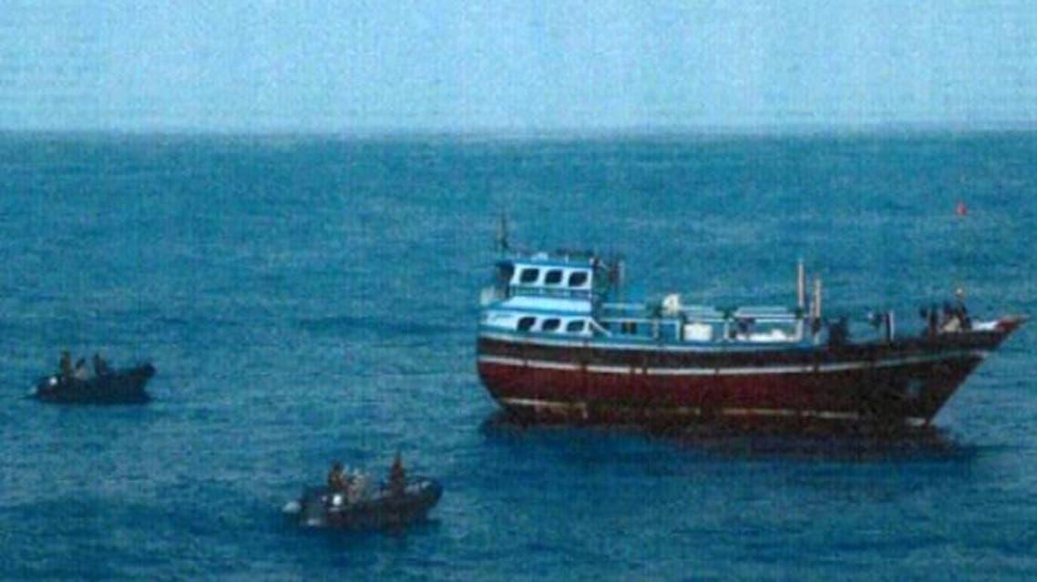 زورق إيراني في بحر العرب الحدث