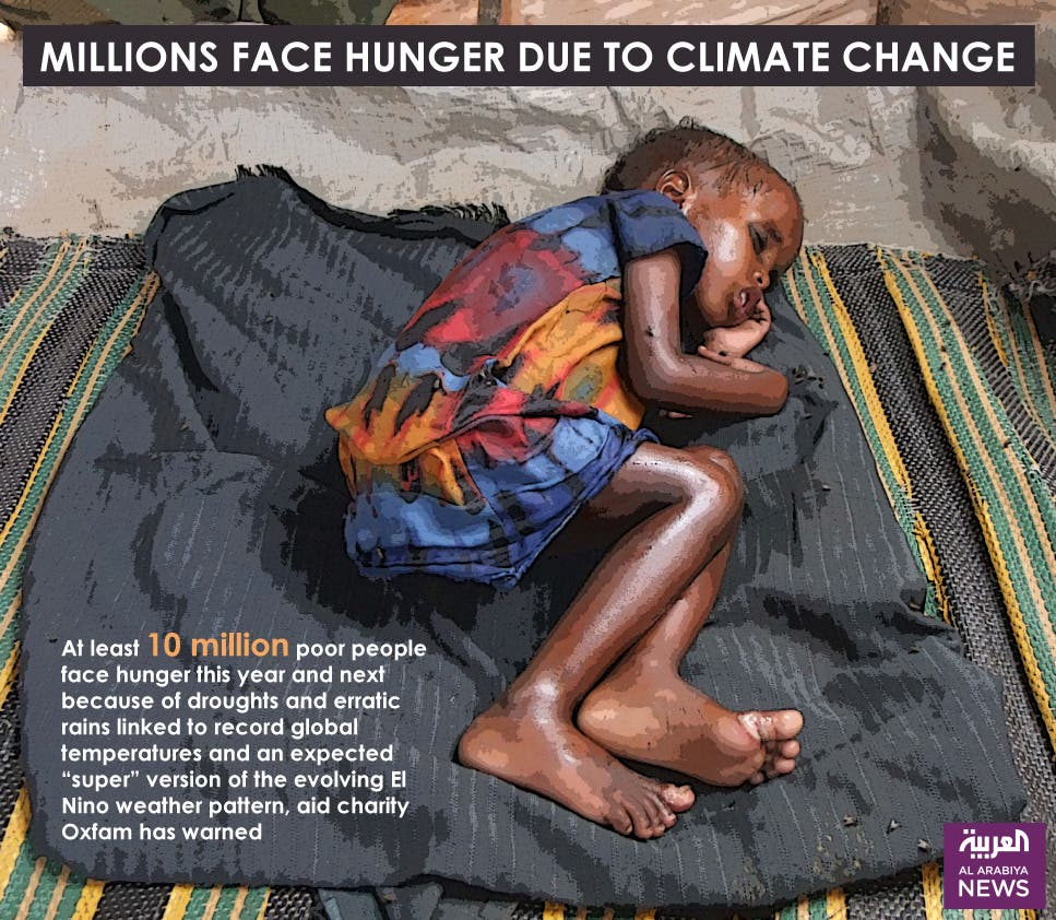 Infographic: Millions face hunger due to climate change