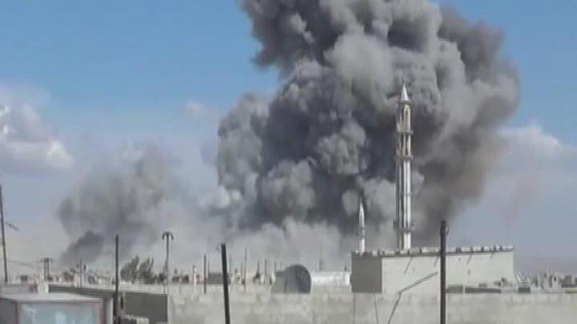 THUMBNAIL_ الطيران الروسي يستهدف ريف حمص الشمالي وحماة واللاذقية
