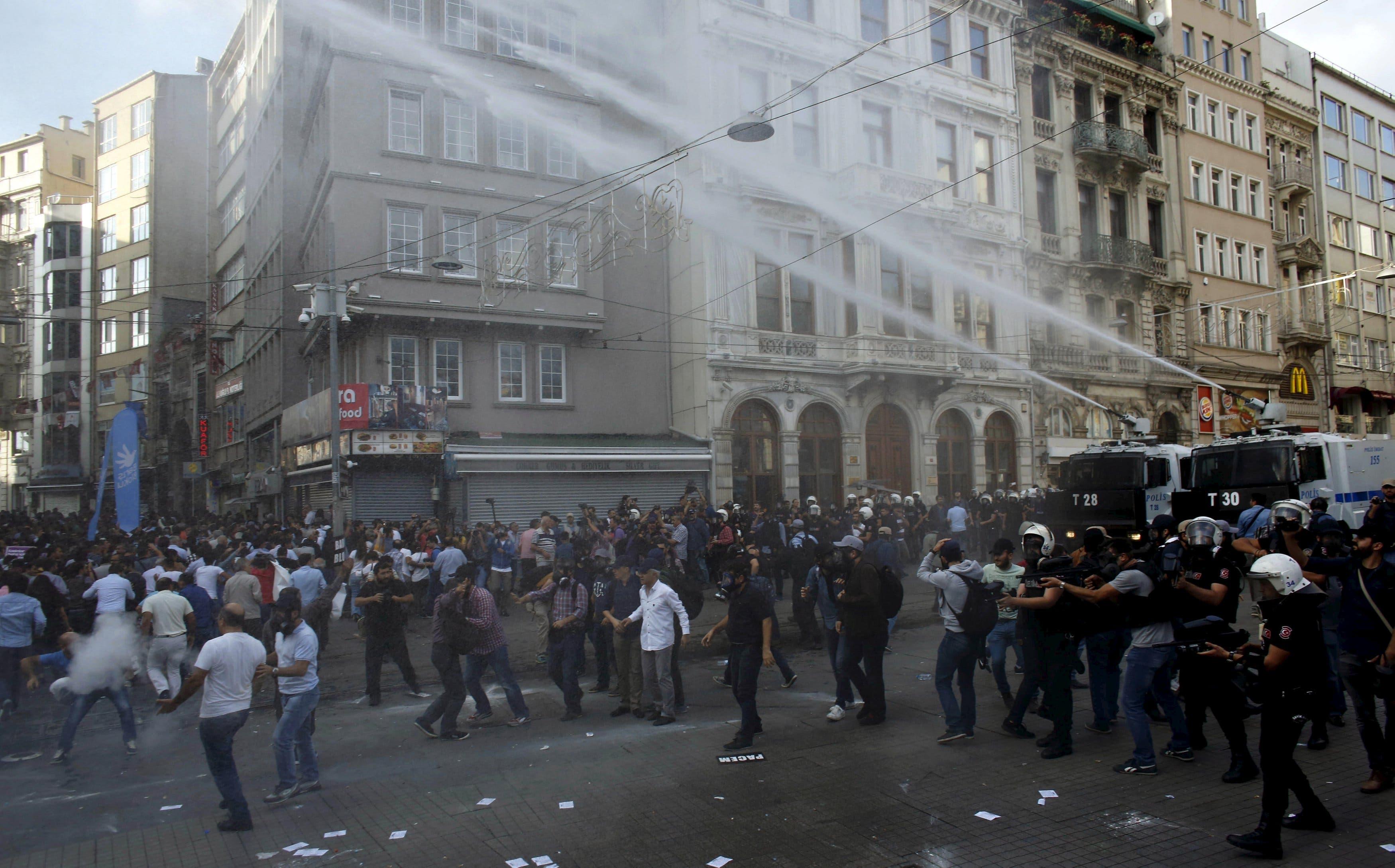 الشرطة التركية تفرّق مظاهرة موالية للأكراد في اسطنبول (أرشيفية)