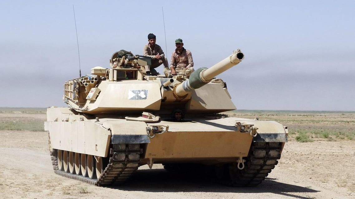 An Iraqi Army tank, purchased from the U.S. patrols in an eastern suburb of Ramadi, Anbar province, Iraq. (File photo: AP)