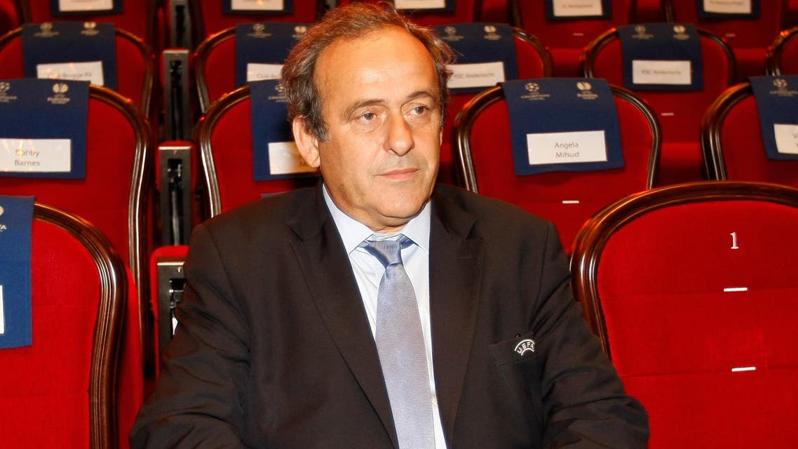 UEFA President Michel Platini, attends the soccer Europa League draw ceremony at the Grimaldi Forum, in Monaco, Friday, Aug. 28, 2015. (AP)