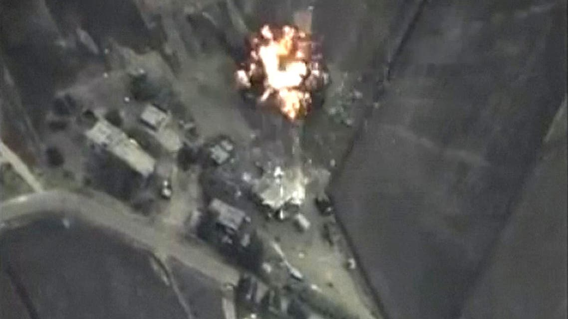Frame grabs shows airstrikes carried out by Russian air force allegedly against ISIS ground positions in Syria. (Reuters)