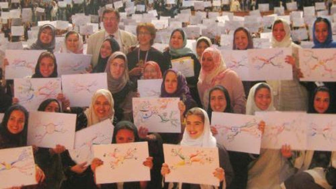 Students and faculty at Dar Al-Hekma University hit global record in mind mapping. — SG photo by Layan Damanhouri