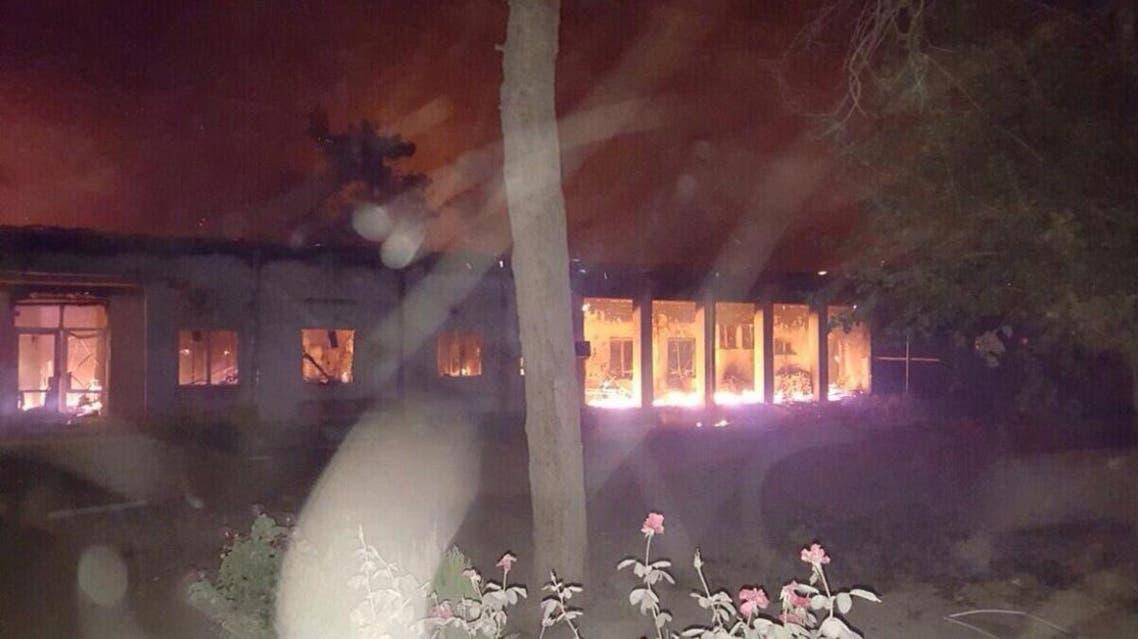 قصف يعتقد انه ناجم عن غارة اميركية استهدف مستشفى وادى لمقتل 22 شخصا في افغانستان