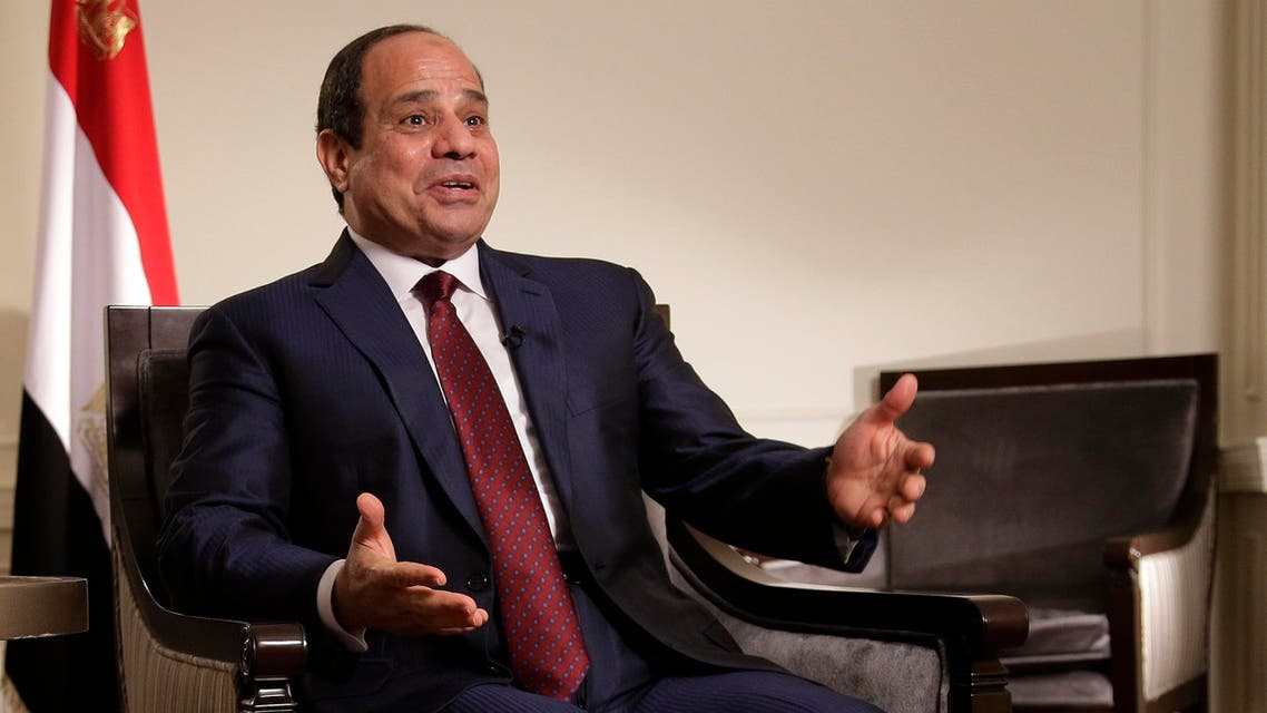 Egyptian President Abdel Fattah el-Sisi answers questions during an interview, Saturday, Sept. 26, 2015. (AP)