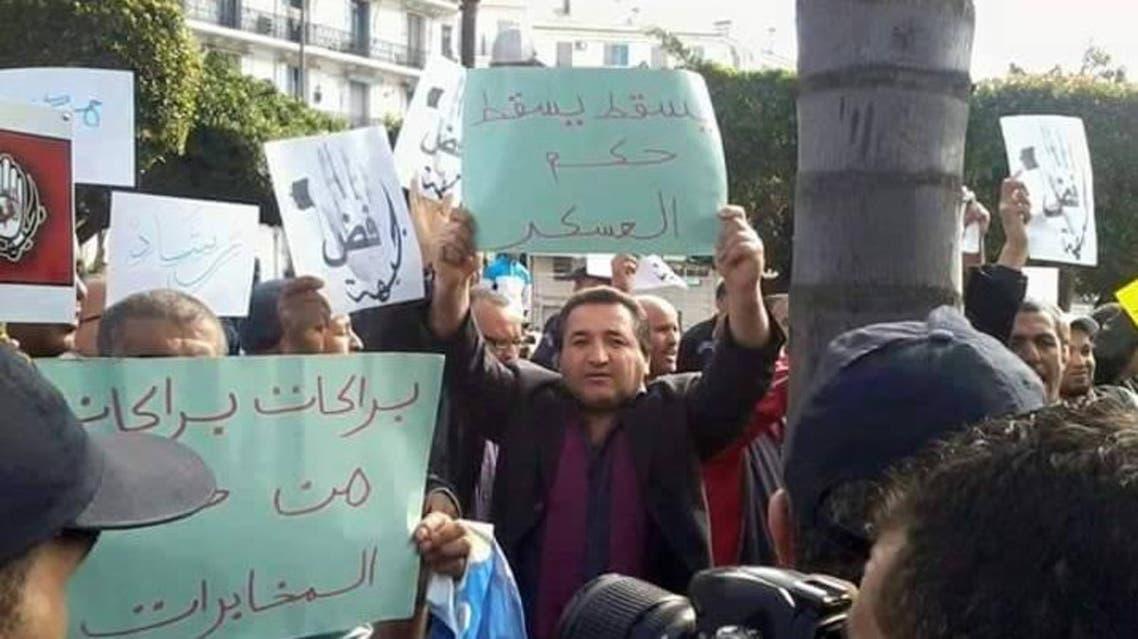 حسان بوراس في مظاهرة