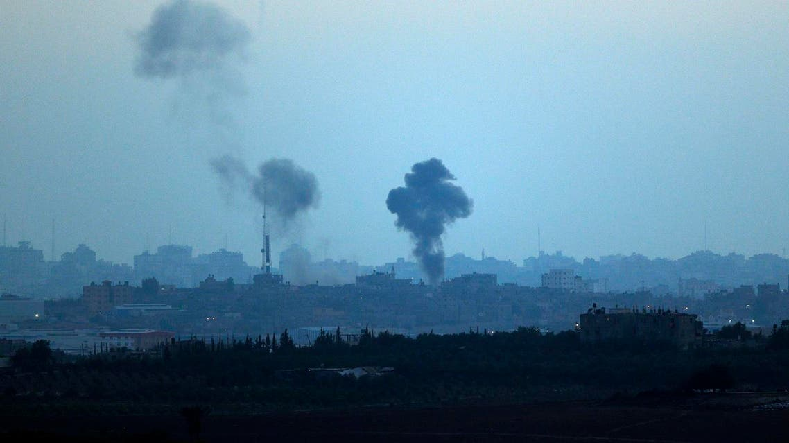 Smoke rises following Israeli strikes on Gaza, seen from Israel-Gaza Border on July 10, 2014. (AP)