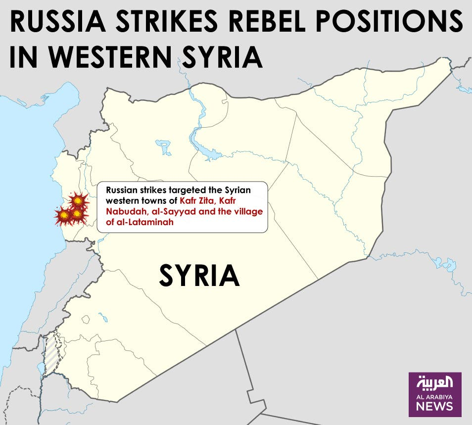 Infographic: Russia strikes rebel positions in western Syria