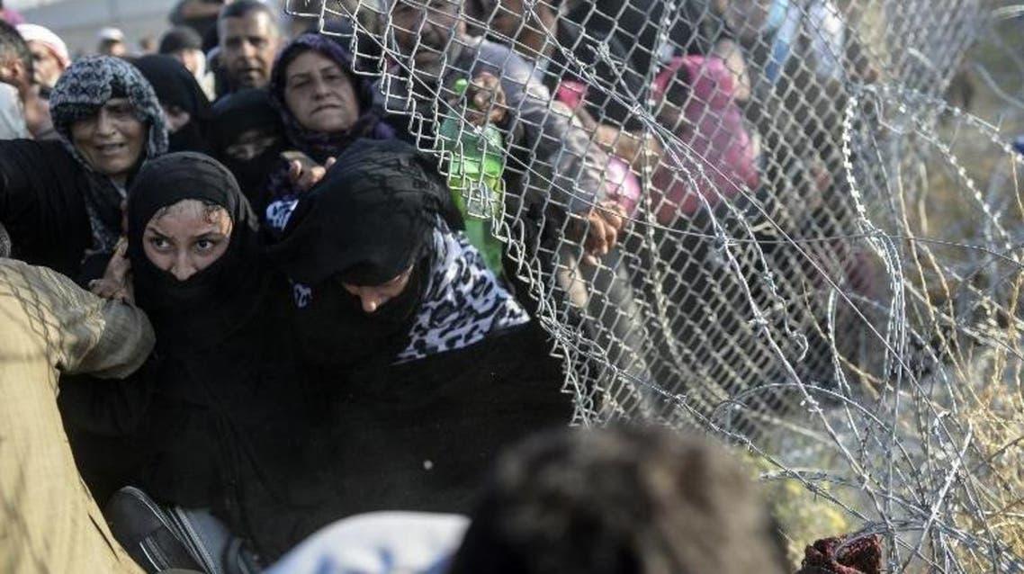 لاجئين على الحدود السورية التركية