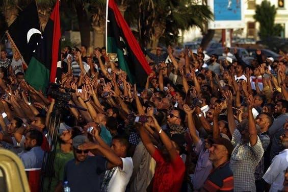 تظاهرات سابقة في ليبيا ضد حكومة الوفاق