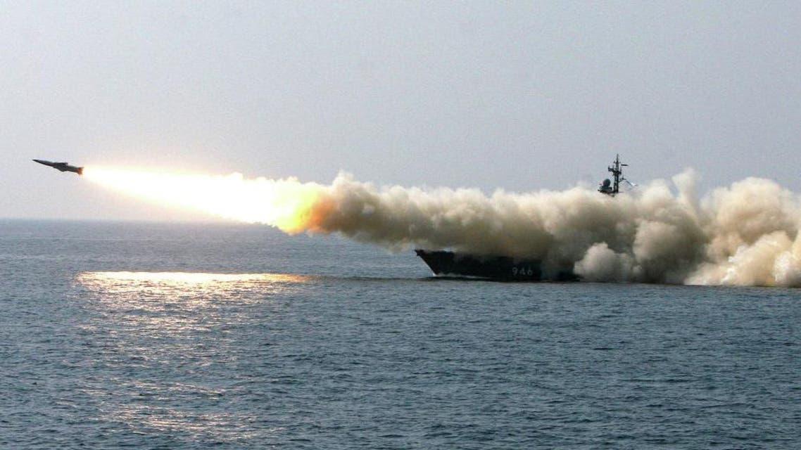 سفن حربية روسية تطلق صواريخ على اهداف في سوريا من بحر قزوين روسيا