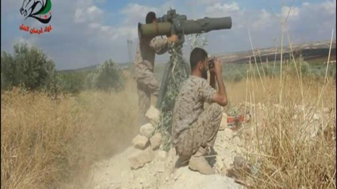 "THUMBNAIL_ ""مجزرة"" دبابات للأسد بصواريخ تاو في حماة"