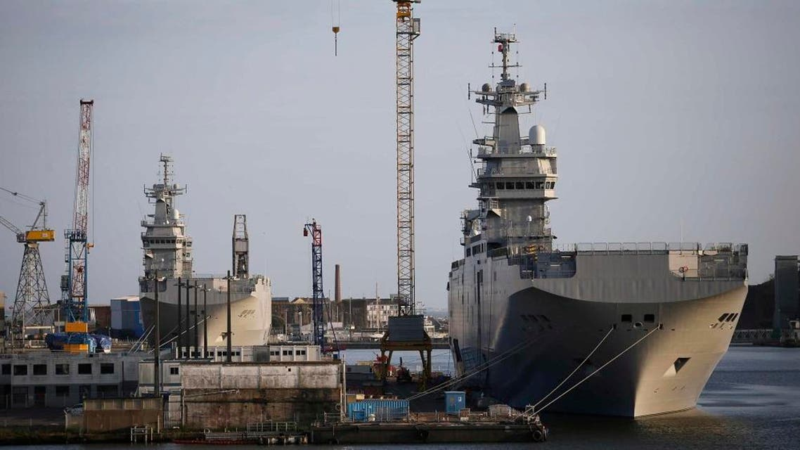 Two Mistral-class helicopter carriers Sevastopol (R) and Vladivostok. (File photo: Reuters)