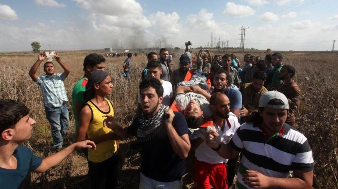 قتل و اصابة متظاهرين فلسطينيين في غزة بمواجهات مع الجيش الاسرائيلي فلسطين اسرائيلي