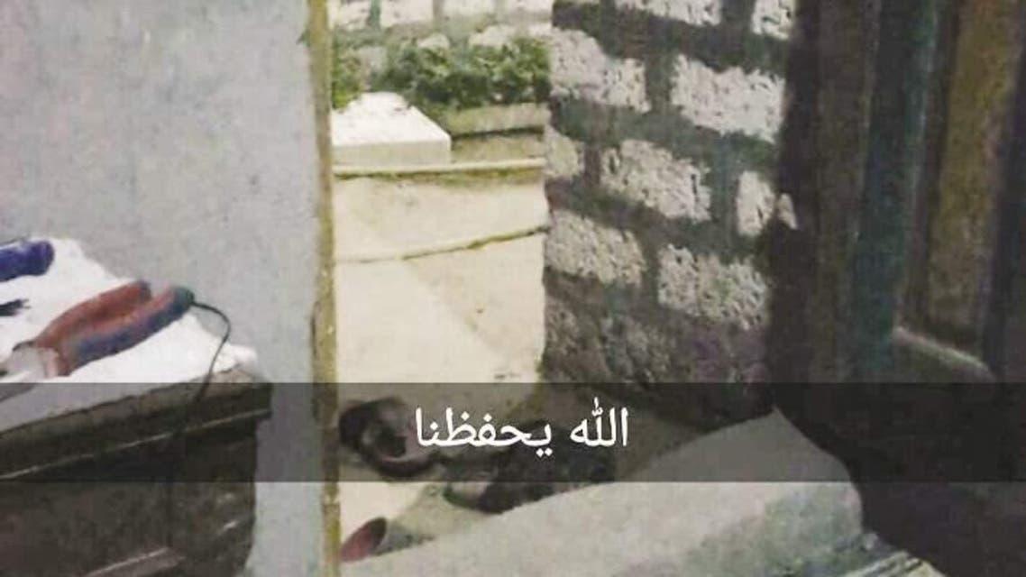 الصورة التي ارسلتها المواطنة الكويتية لاصدقائها في الكويت قبل الحادث بدقائق
