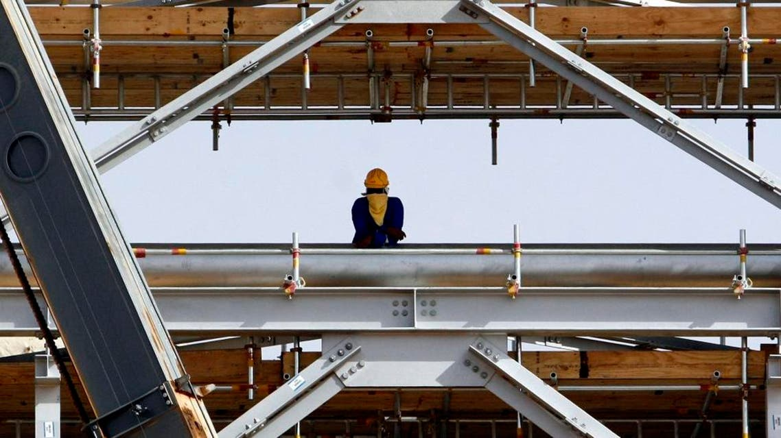 An oil worker is seen at the Khurais oil facility, about 60 miles southeast of Riyadh in Saudi Arabia. (File photo: AP)