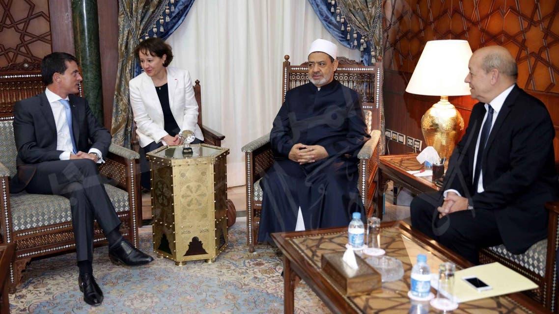 شيخ الأزهر مع رئيس وزراء فرنسا