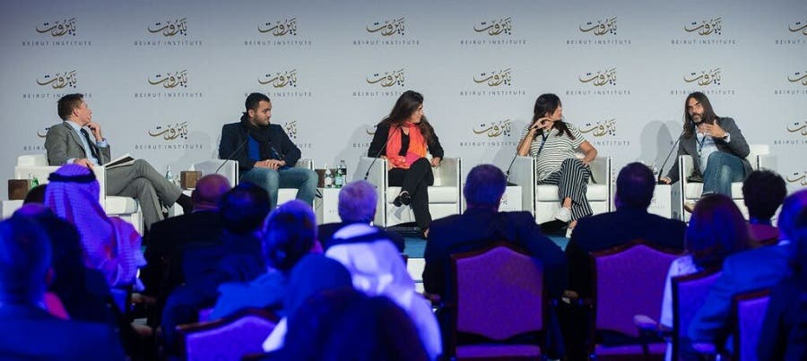 The Beirut Institute Summit brought together four Arab artists together to discuss the state of Arab cinema. (Karl Jeffs/Beirut Institute Summit)
