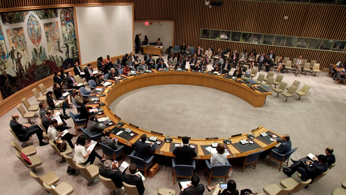 The Security Council meets to discuss the situation in Libya during the 66th session of the General Assembly at United Nations headquarters Monday, Sept. 26, 2011. (AP Photo/Seth Wenig)