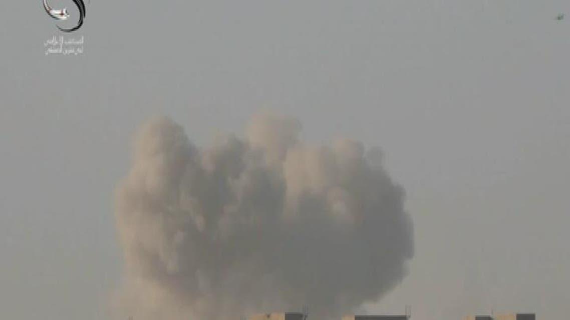 THUMBNAIL_ الطائات الروسية تنفذ 14 غارة على حي جوبر شرقي دمشق
