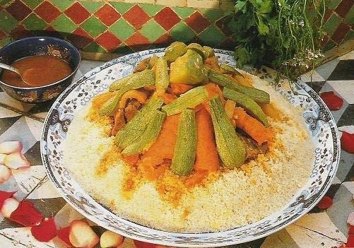طبق الكسكسي التقليدي