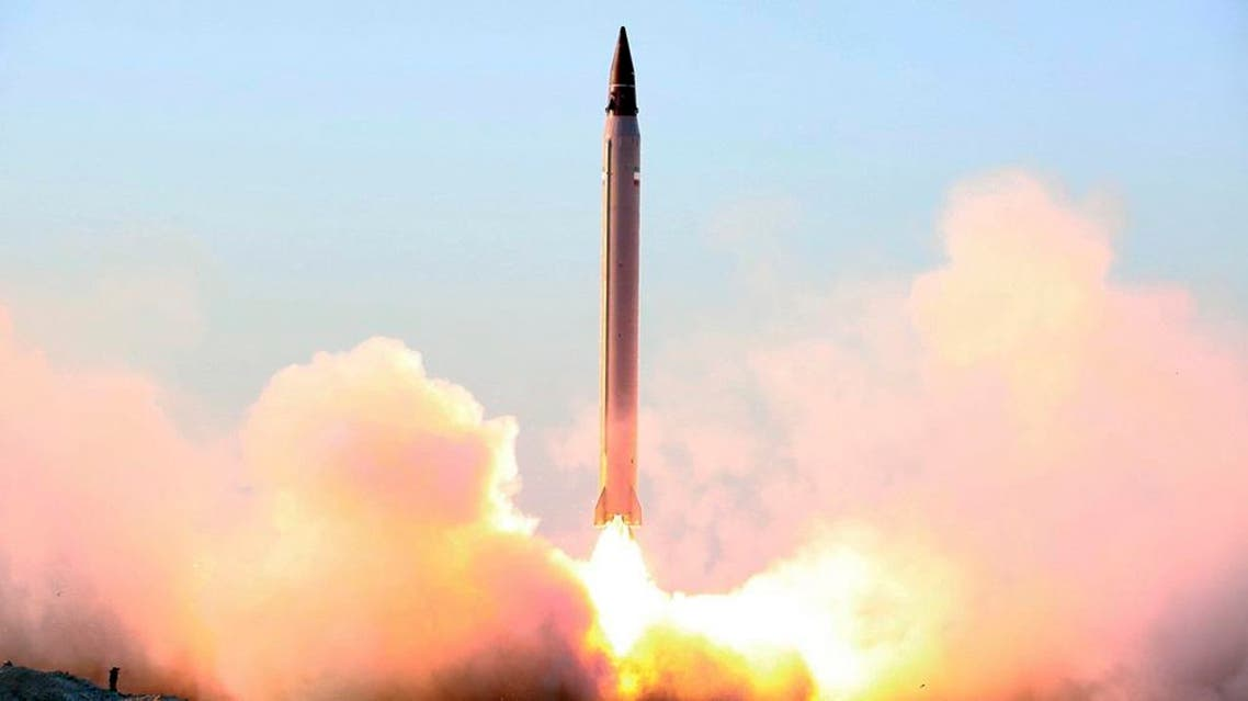 "This picture released by the official website of the Iranian Defense Ministry on Sunday, Oct. 11, 2015, claims to show the launching of an Emad long-range ballistic surface-to-surface missile in an undisclosed location. Iran successfully test fired a new guided long-range ballistic surface-to-surface missile, state TV reported on Sunday. It was the first such a test since Iran and world powers reach a historical nuclear deal. Iran's Defense Minister Gen. Hossein Dehghan, told the channel that the liquid-fuel missile ""will obviously boost the strategic deterrence capability of our armed forces."" (Iranian Defense Ministry via AP)"