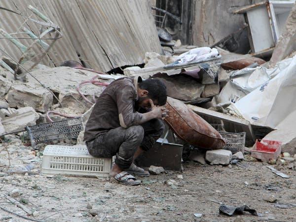 قصف وحشي للنظام على حلب ببرميلي متفجرات يحصد 15 قتيلا