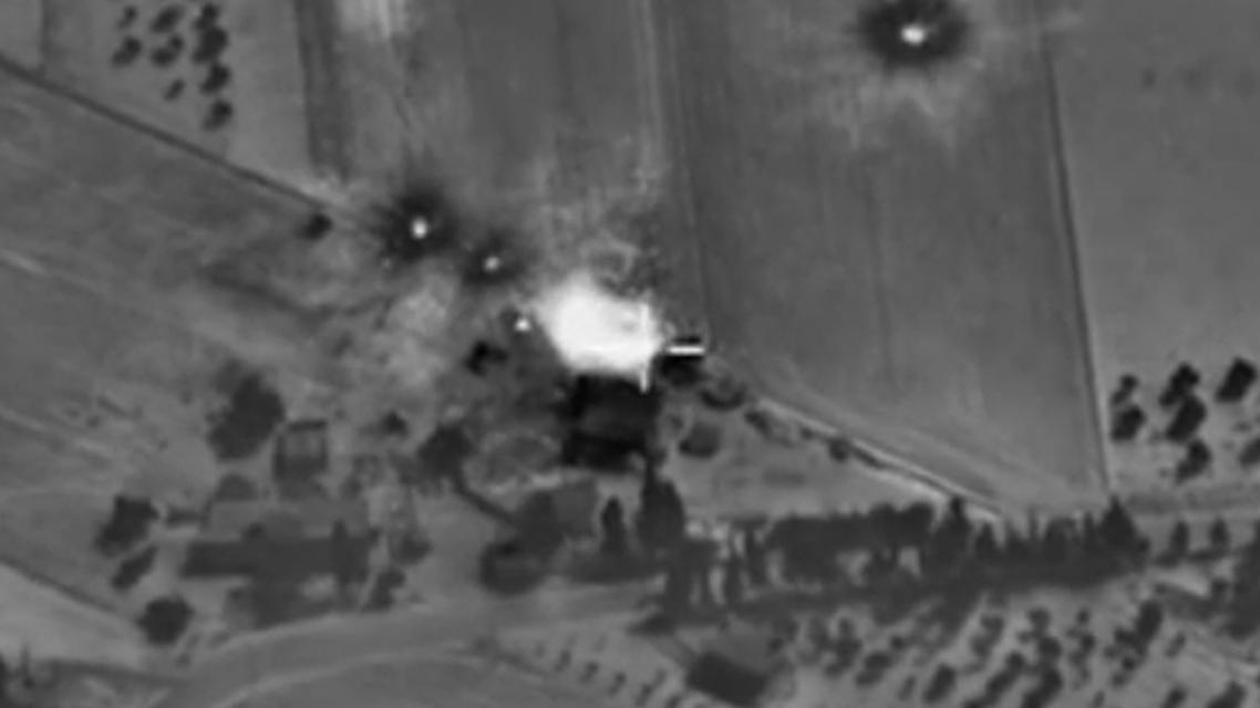 صورة من وزارة الدفاع الروسية لل غارات روسية بسوريا