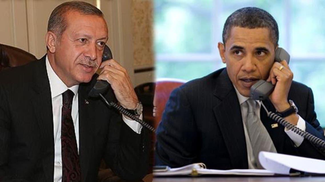 أوباما وأردوغان - مكالمة هاتفية