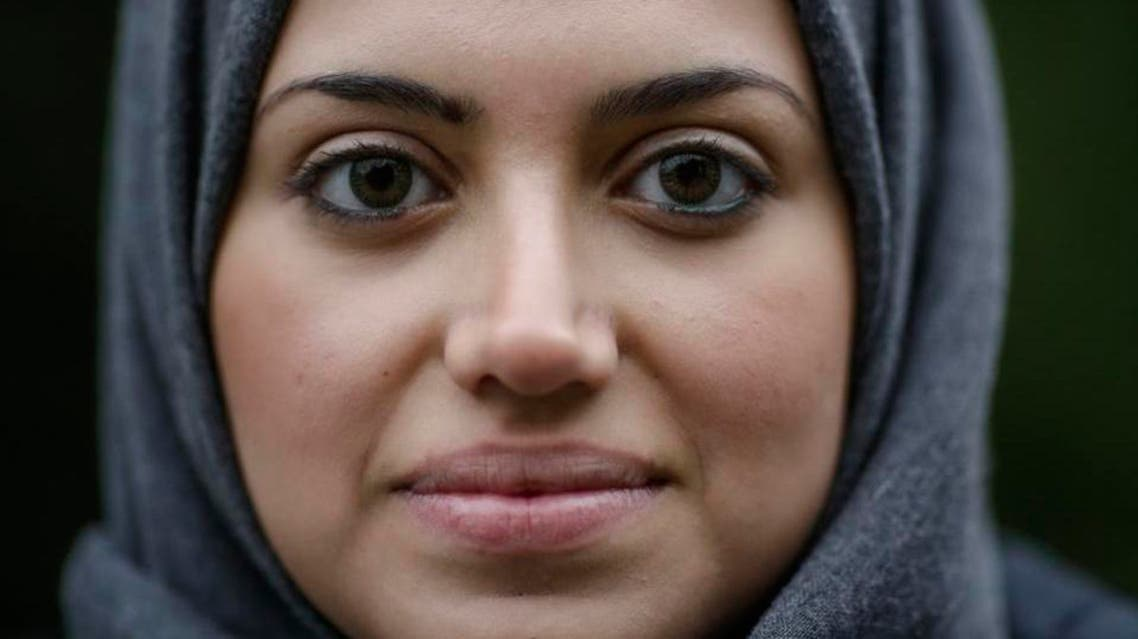 In this Tuesday, Oct. 13, 2015 photo Syrian refugee Reem Habashieh poses for a photo during an interview with the Associated Press at a park in Pirna, Germany. (AP)