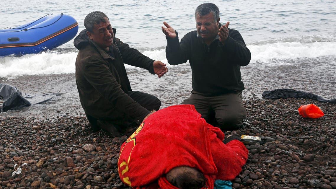 مهاجرون - غرق - مركب - اليونان