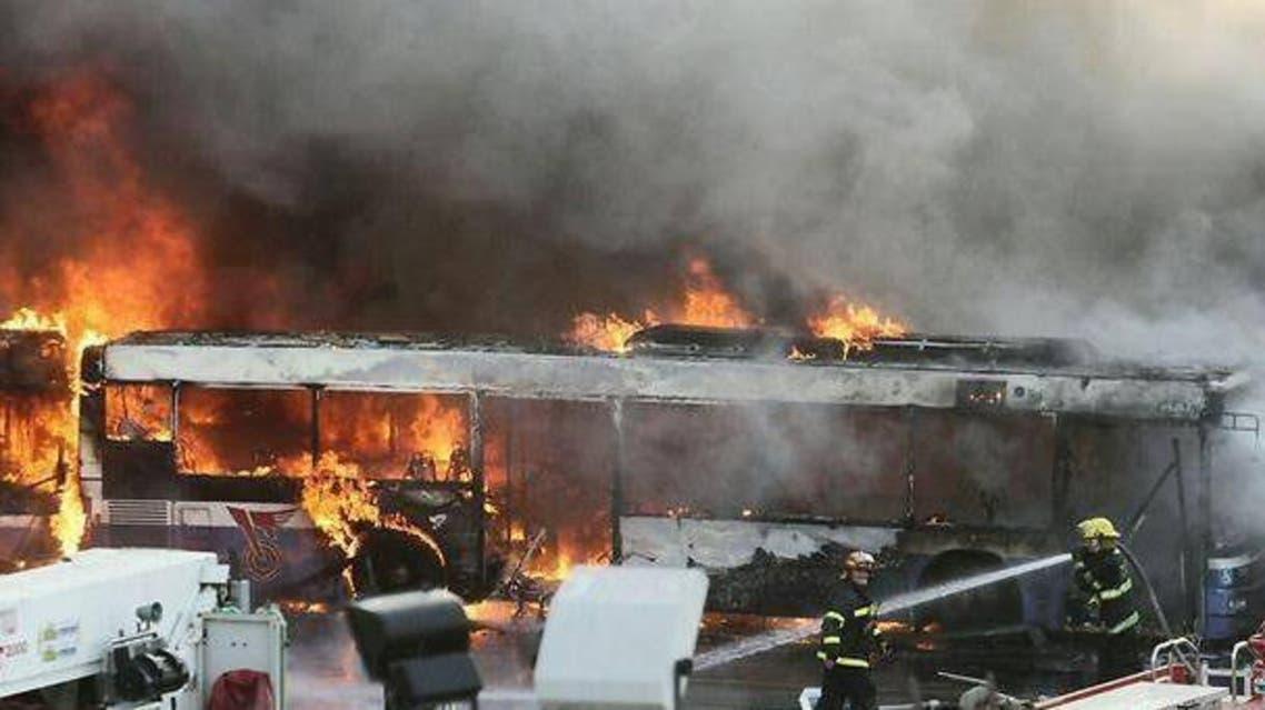 حريق محطة باصات تل أبيب رئيسية
