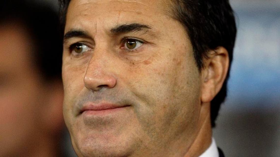SC Braga's manager Jose Peseiro during their Champions League Group H soccer match against Manchester United at Old Trafford in Manchester, England, Tuesday Oct. 23, 2012. (AP Photo/Jon Super)
