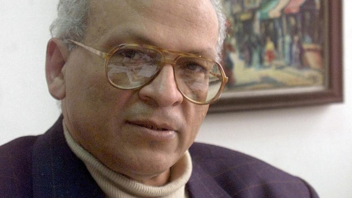 A file picture taken on February 3, 2000 shows prominent Egyptian author and intellectual Gamal al-Ghitani posing for a picture at his office in Cairo. afp