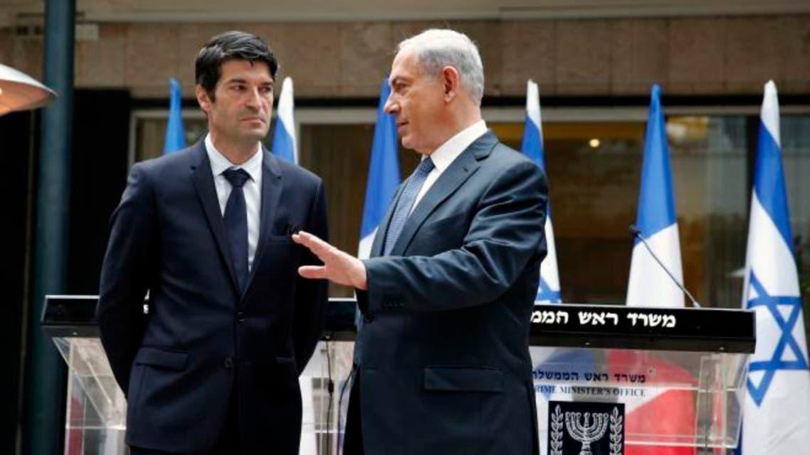 سفير فرنسا في اسرائيل، باتريك ميزونيف بلقاء سابق مع نتنياهو